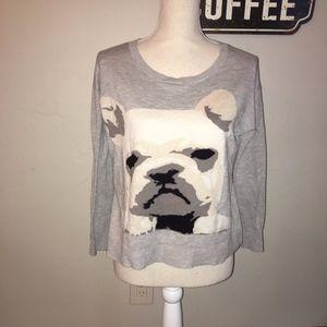 Joie French Bulldog Wool Blend Sweater Size XS